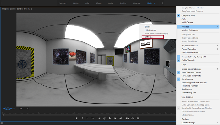 Imagem 360 no Adobe Premiere